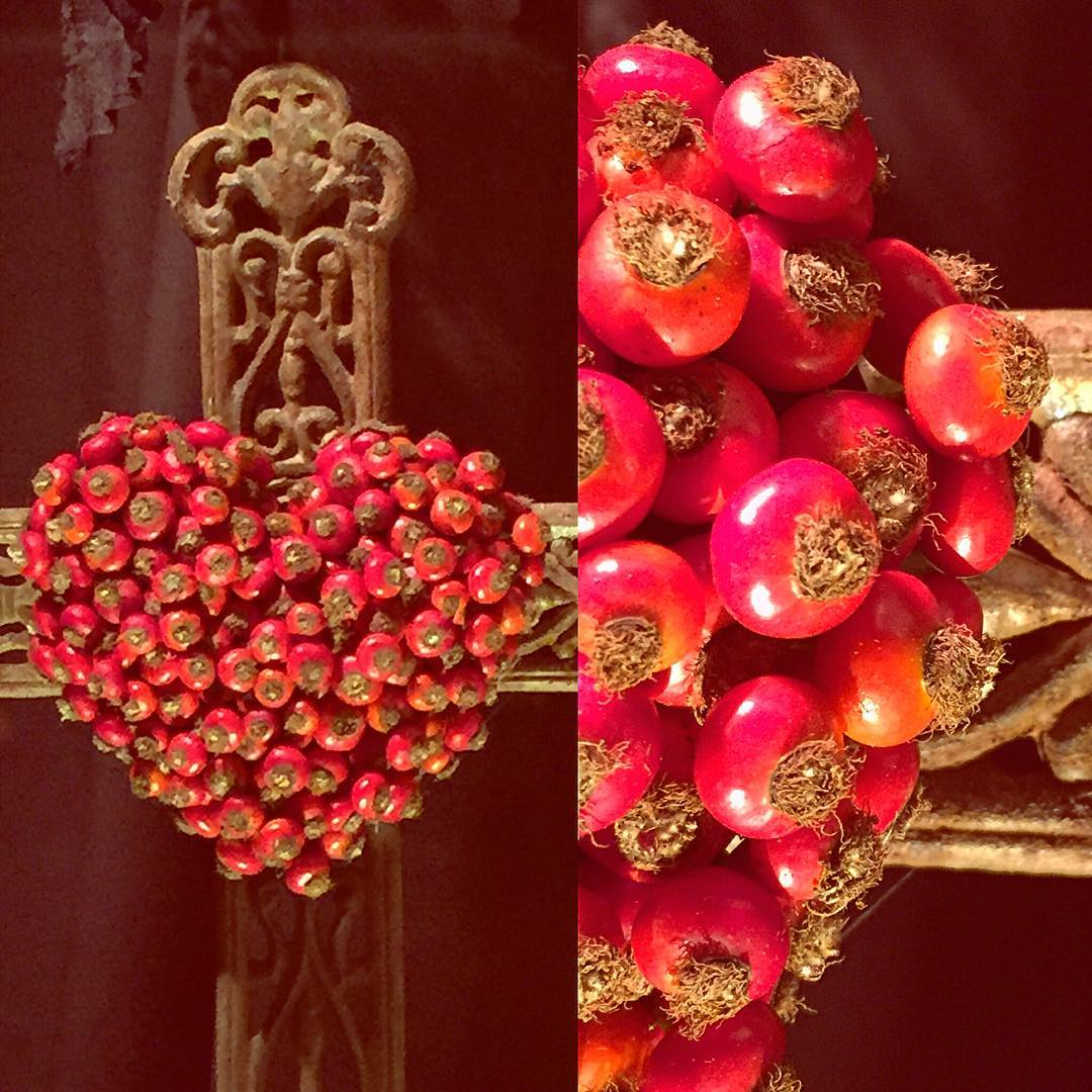 rosehip cross red heart halloween allsaintsday flowershop antwerp florartesantwerp